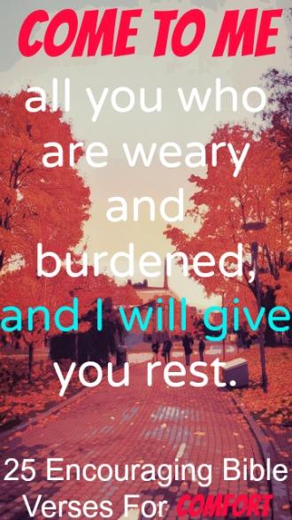 25 Encouraging Bible Verses For Comfort