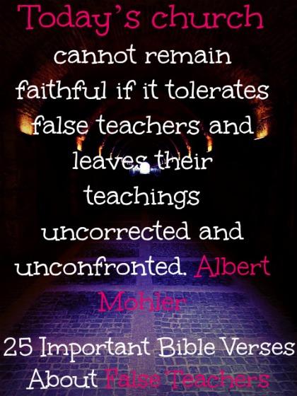 25 Important Bible Verses About False Teachers
