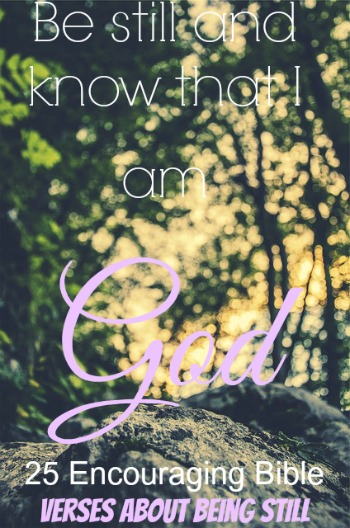 25 Encouraging Bible Verses About Being Still