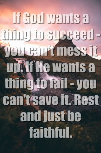 If God Wants A Thing To Succeed You Can't Mess It Up