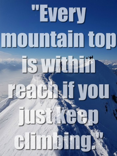 Don't Bow Down To That Mountain; Climb It!