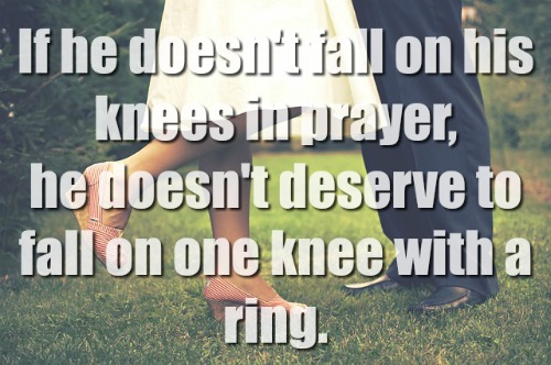 If He Doesn't Fall On His Knees In Prayer