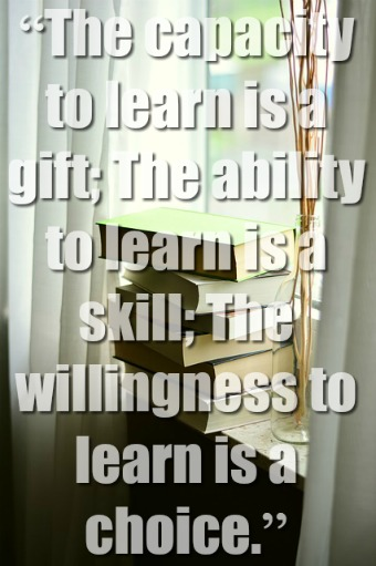 The capacity to learn is a gift