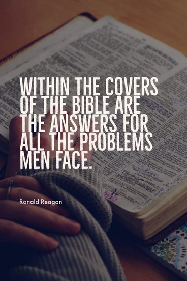 Within the covers of the Bible are the answers