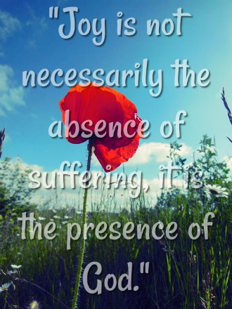 Joy is not necessarily the absence of suffering