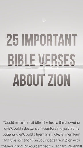 25 Important Bible Verses About Zion (What Is Zion In The Bible?)