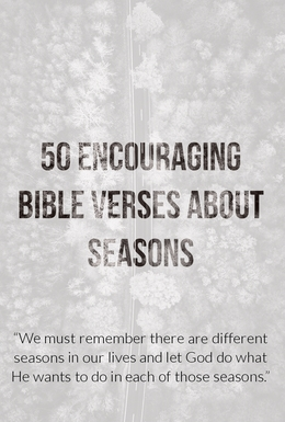 50 Encouraging Bible Verses About Seasons (Life Changing)