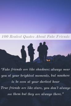 I dont like fake friends