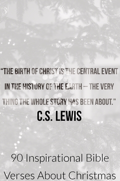 The birth of Christ is the central event