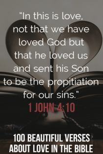 This is love: not that we loved God, but that he loved us. 1 John 4:10