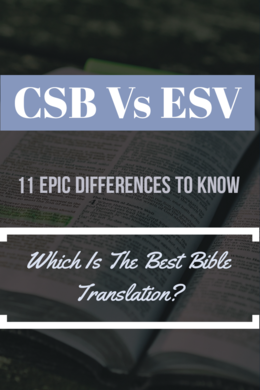 CSB Vs ESV Bible Translation: (11 Major Differences To Know)