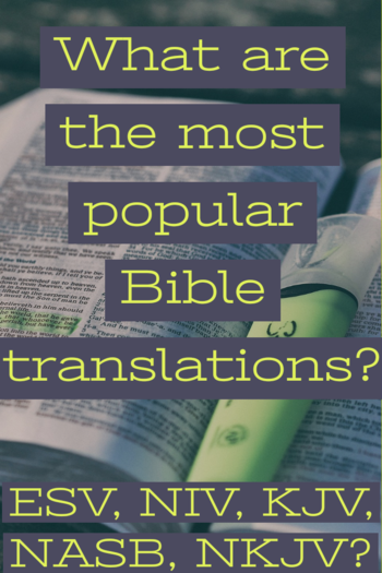 What are the most popular Bible translations?