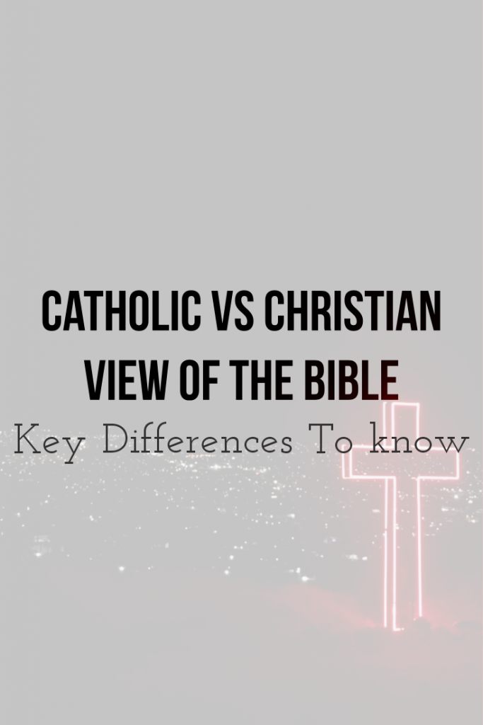 The Catholic and Christian view of the holy Bible.