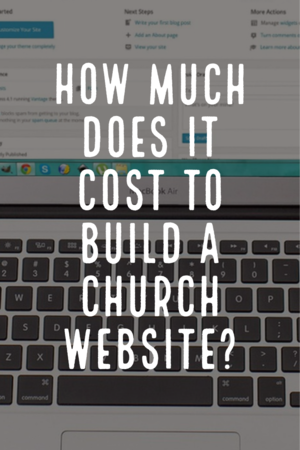 How much does it cost to build a church website?