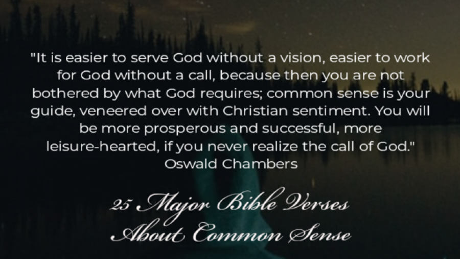25 Major Bible Verses About Common Sense (Powerful Truths)
